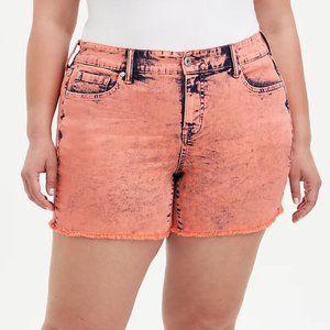 Torrid Coral Acid Wash Shorts